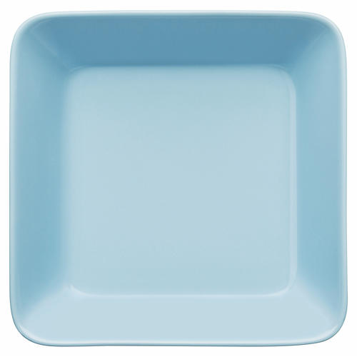 Teema Square Dinner Plate, Light Blue
