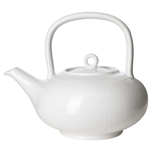 Swedish Grace Tea Pot, Snow