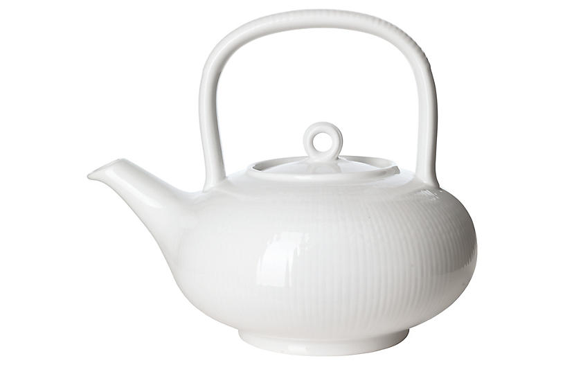 Swedish Grace Tea Pot, Snow