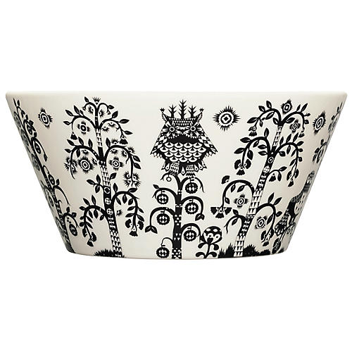 Taika Serving Bowl, Black/White