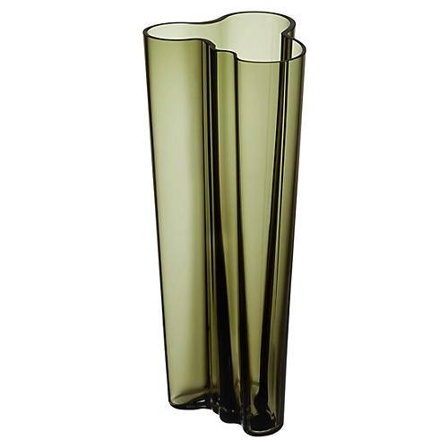 "10"" Aalto Vase, Moss Green"