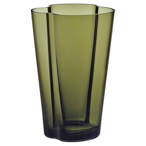 "9"" Aalto Small Vase, Moss Green"