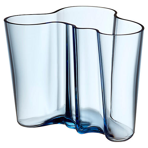 """9"""" Aalto Small Vase, Aqua"""