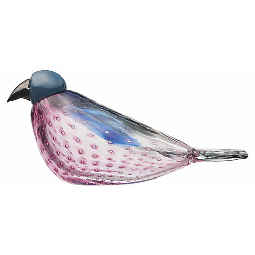 "8"" Toikka American Kestrel Figure, Pink/Blue"