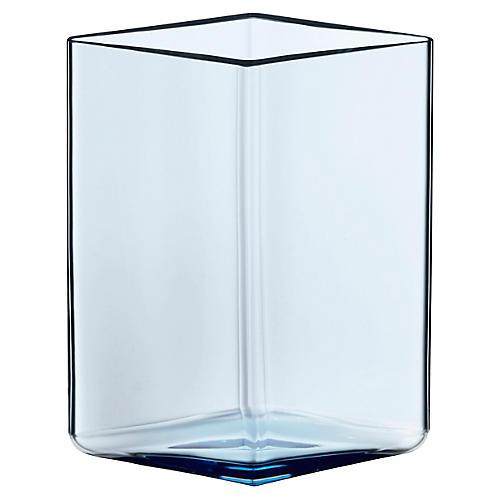 """6"""" Ruutu Vase, Aqua"""