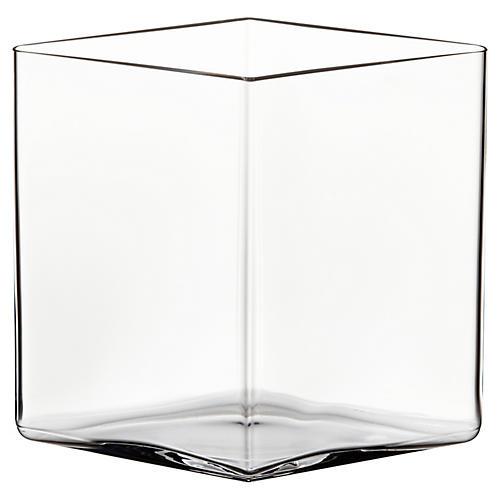 """7"""" Ruutu Vase, Clear"""