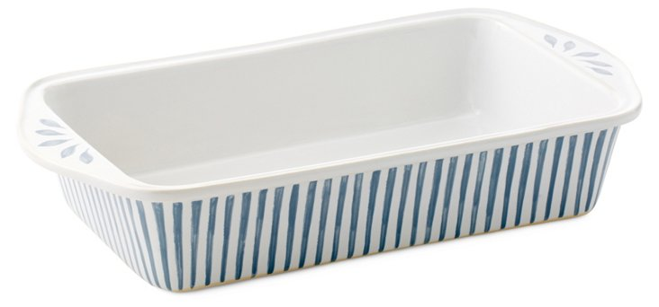 Medium Striped Baker, Blue