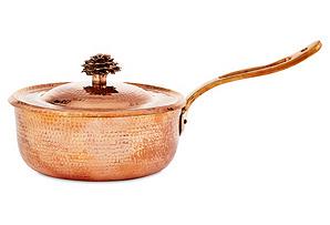 3.5-Qt Copper Sauté Pan w/ Flower Lid