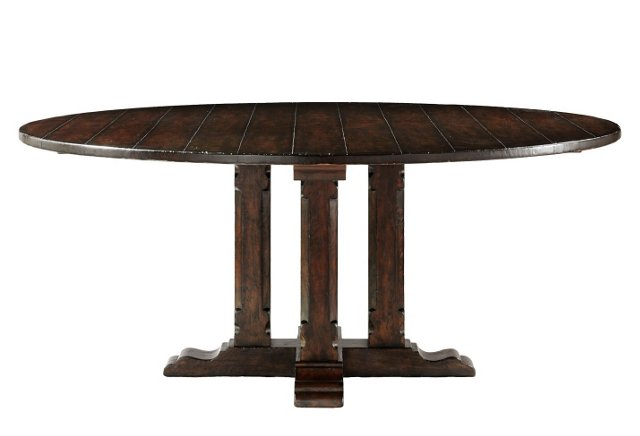 Blue Ridge Round Dining Table, Brown