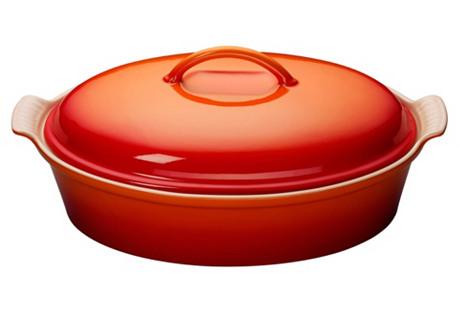 4 Qt Oval Casserole Dish, Flame