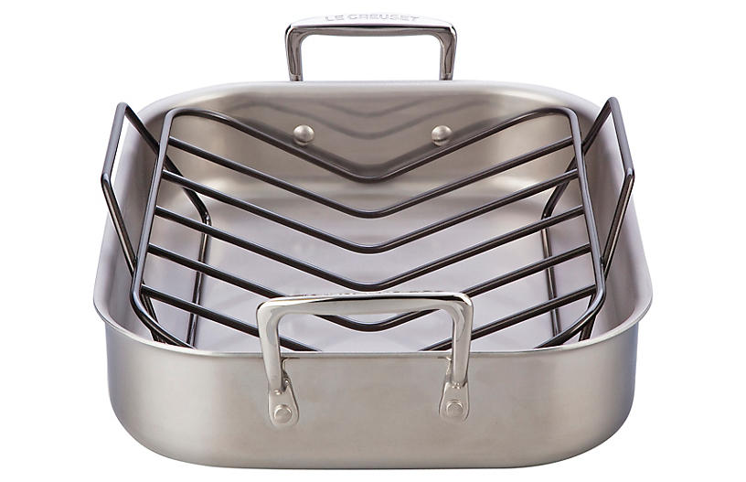 Stainless Steel Roasting Pan Set - Le Creuset