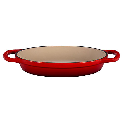 20 Qz Signature Oval Baker, Cherry