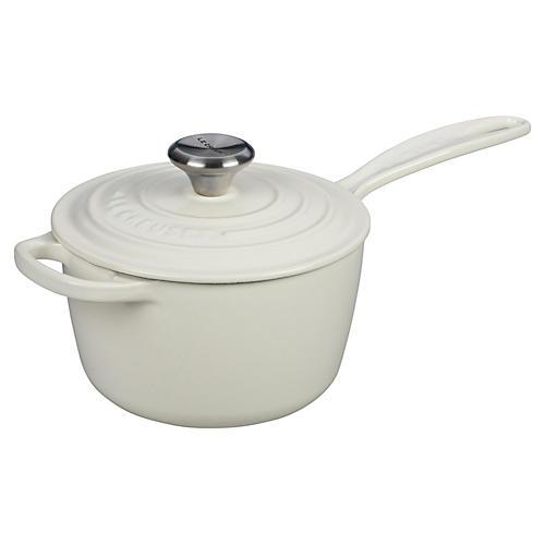 1.75 Qt Signature Saucepan, White