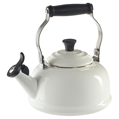 1.8 Qt Whistling Kettle, White