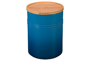 22 Oz Canister w/ Wood Lid, Marseille*