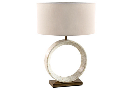 Germain Table Lamp, Ivory Bone