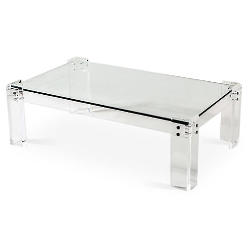 "Gwenyth 52"" Acrylic Coffee Table"