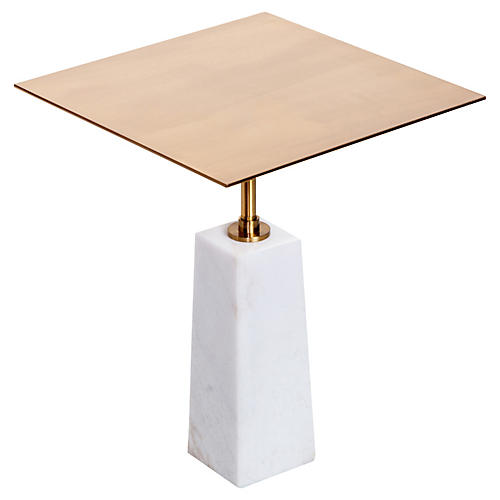 Arnold Marble Side Table, White