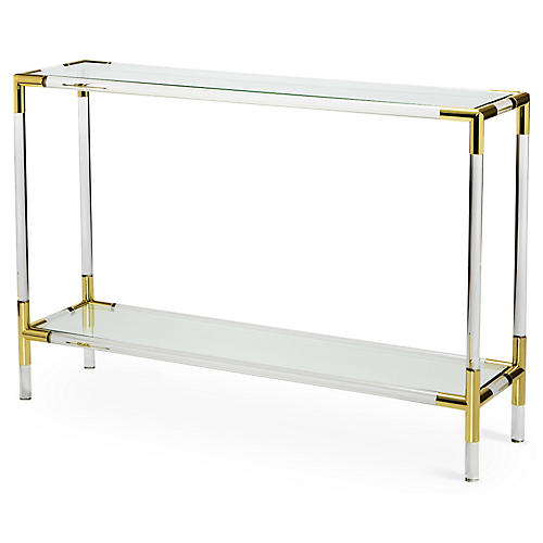 "Julien 48"" Acrylic Console, Clear"