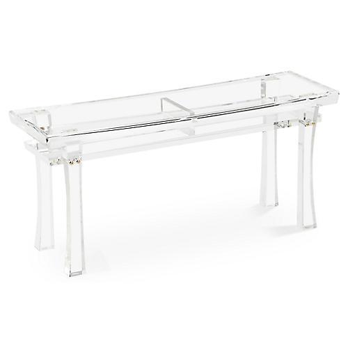"Keiko 40"" Acrylic Bench, Clear"