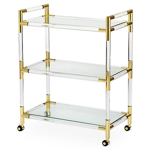 Julien Acrylic Bar Cart, Clear