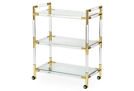 Julien Acrylic Bar Cart, Clear