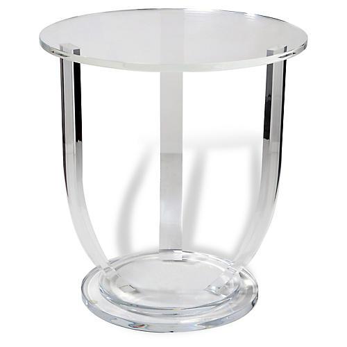 Lila Acrylic Side Table, Clear