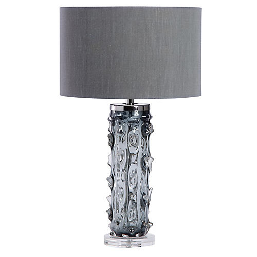 Zion Crystal Table Lamp, Smoke Gray