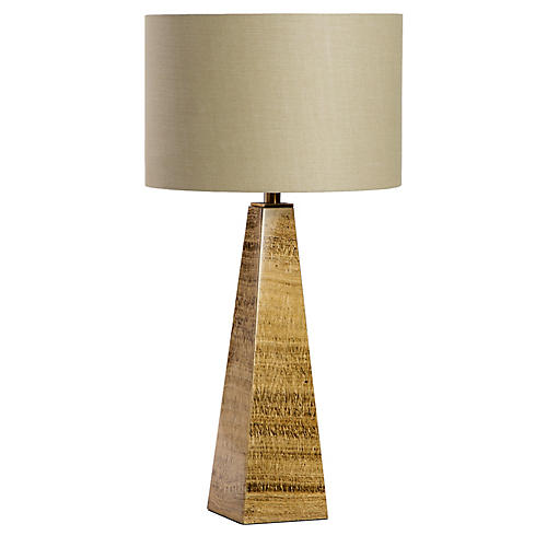 Maddox Marble Table Lamp, Coffee