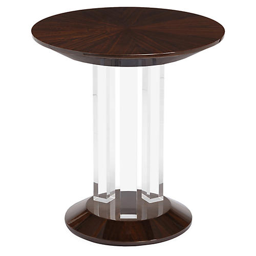 Kara Acrylic Side Table, Eucalyptus