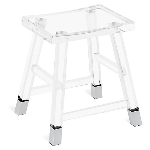Reeta Acrylic Stool, Clear
