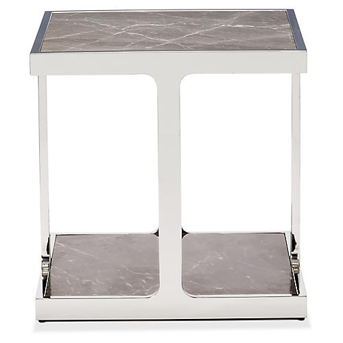 Soto Side Table, Polished Nickel