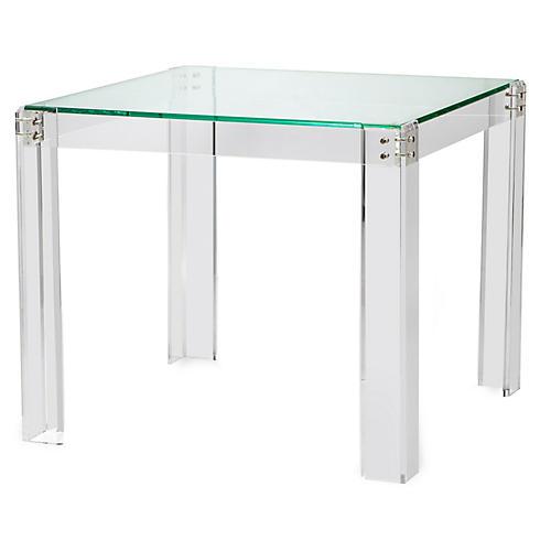 Gwenyth Acrylic Game Table, Clear