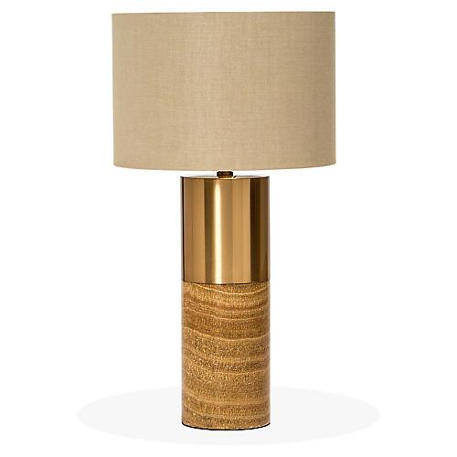 Anderson Table Lamp, Tan/Bronze