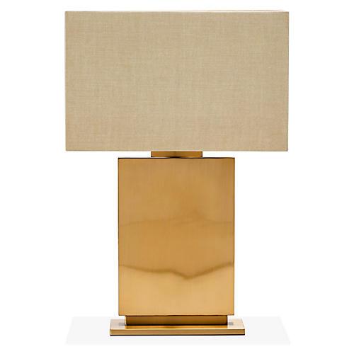 Ellison Table Lamp, Tan/Bronze