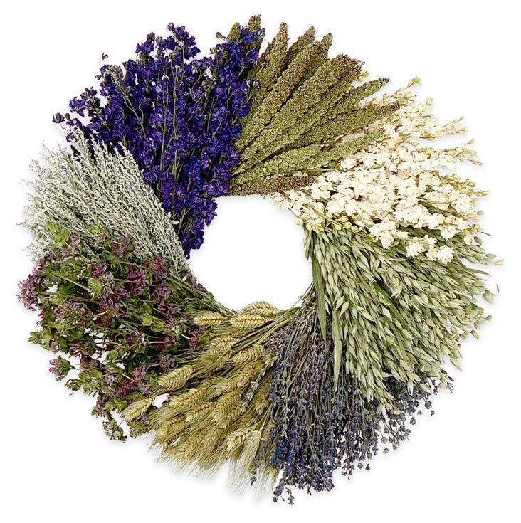 "20"" Lavender Monet Wreath, Dried"