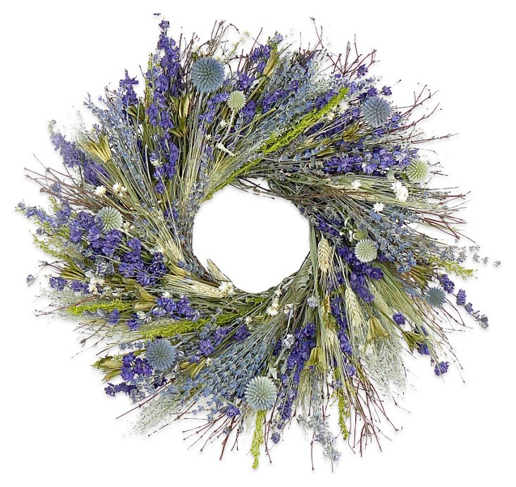 "22"" Quail Brush & Avena Wreath, Dried"