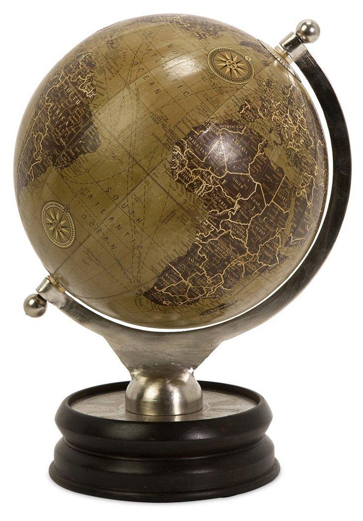 "13"" Colombo Globe, Brown"