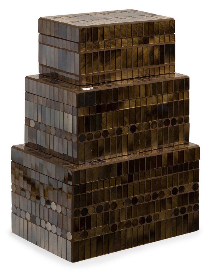 S/3 Chai Mosaic Boxes