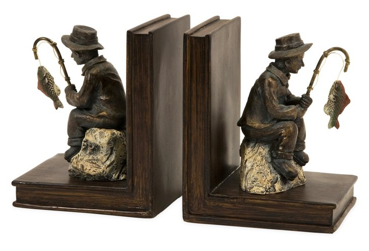 Pair of Fisherman Bookends
