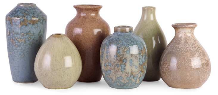 Asst. of 6 Mini Ceramic Vases