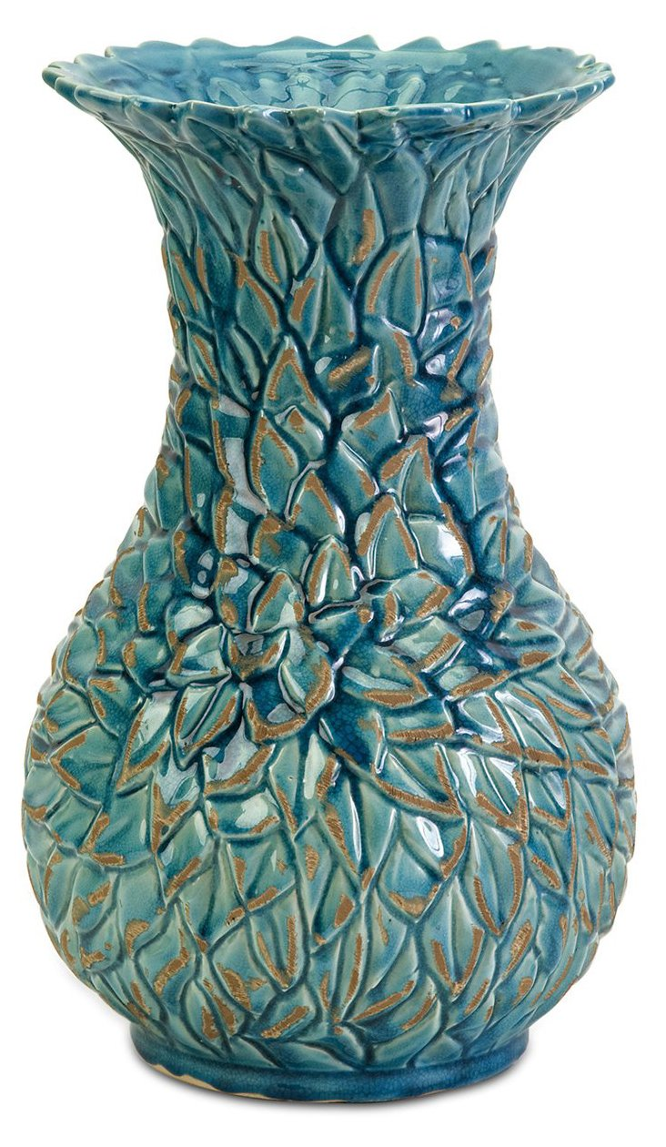 "15"" Lotus Leaves Vase"