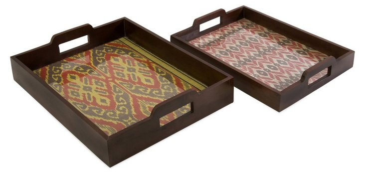 Asst. of 2 Zyanya Trays, Brown