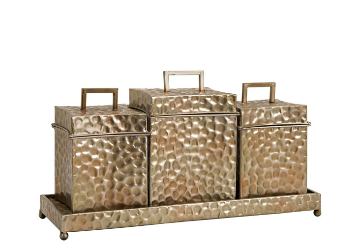 Frey Decorative Boxes in Tray