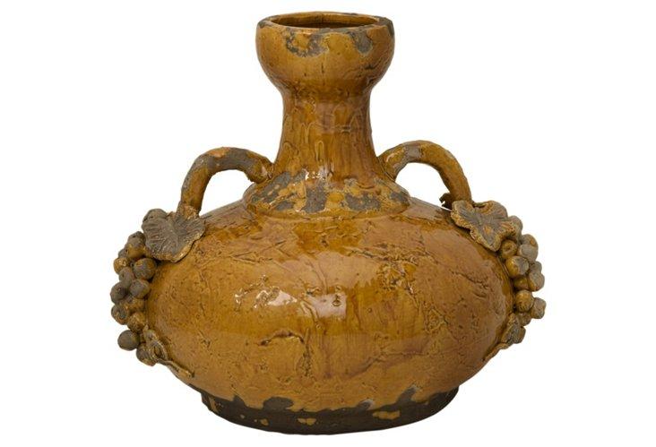"""14"""" Italia Vase, Yellow"""