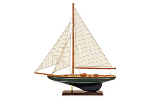 "22"" Sailboat Model, Green"