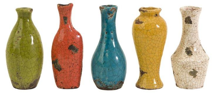 Mercade Vases in Gift Box, Asst. of 5