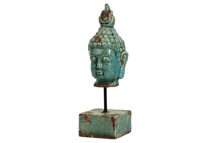 "12"" Buddha on Pedestal"