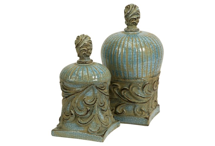 S/2 Rios Lidded Finials