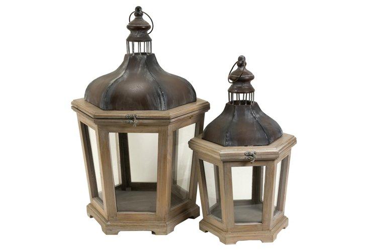 Asst. of 2 Pomeroy Lanterns, Brown